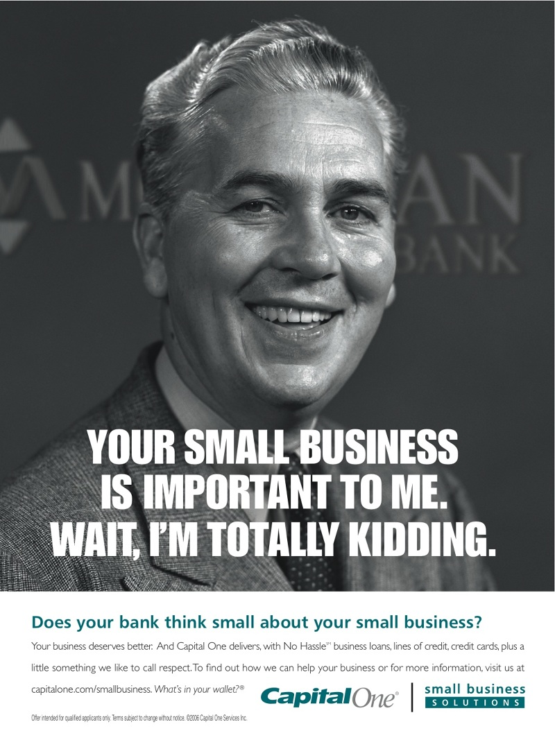SMALL BUSINESS - CAPITAL ONE - Pete Taylor Creative